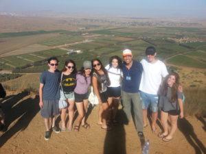 On top on Mount Bental